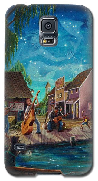 Galaxy S5 Case featuring the painting I See A Good Moon Arising by Matt Konar