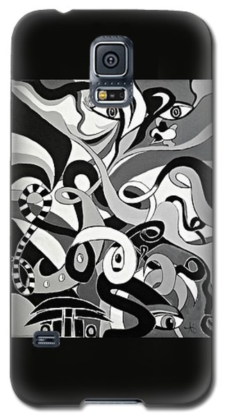 Black And White Acrylic Painting Original Abstract Artwork Eye Art  Galaxy S5 Case