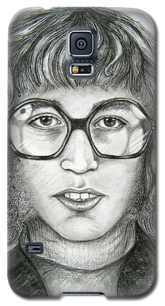 Galaxy S5 Case featuring the drawing Robin Gibb by Patrice Torrillo