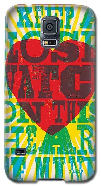 I Walk The Line - Johnny Cash Lyric Poster Galaxy S5 Case