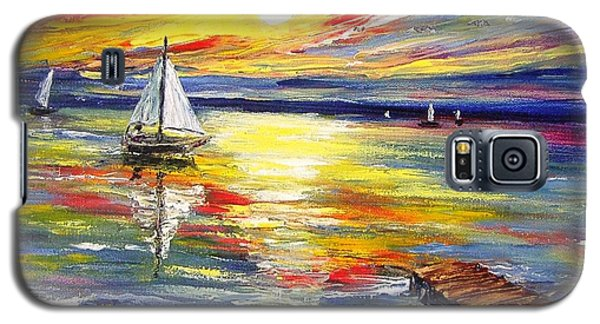 Galaxy S5 Case featuring the painting I Want To Be There by Nina Mitkova