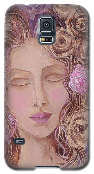 Galaxy S5 Case featuring the painting I Want To Kiss Me by Nina Mitkova