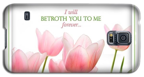 Galaxy S5 Case featuring the photograph I Will Betroth You by Shevon Johnson