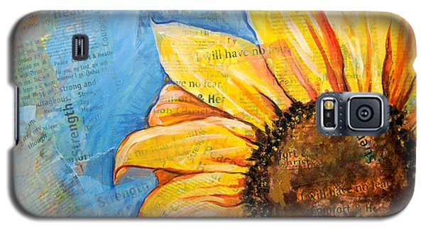 I Will Have No Fear Sunflower Galaxy S5 Case by Lisa Fiedler Jaworski