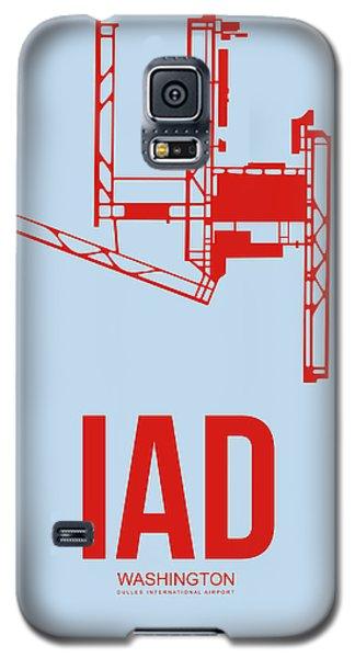 Iad Washington Airport Poster 2 Galaxy S5 Case by Naxart Studio