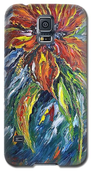 Galaxy S5 Case featuring the painting Ibiscus Fire And Ice by Kathleen Pio