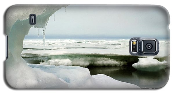 Galaxy S5 Case featuring the photograph Ice Barrow Alaska July 1969 By Mr. Pat Hathaway by California Views Mr Pat Hathaway Archives