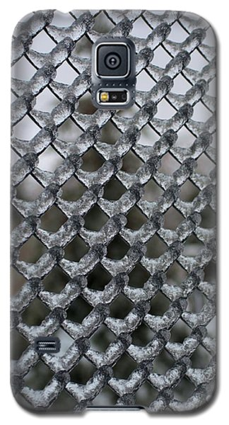 Ice On Chain Link Fence Galaxy S5 Case by Douglas Pike