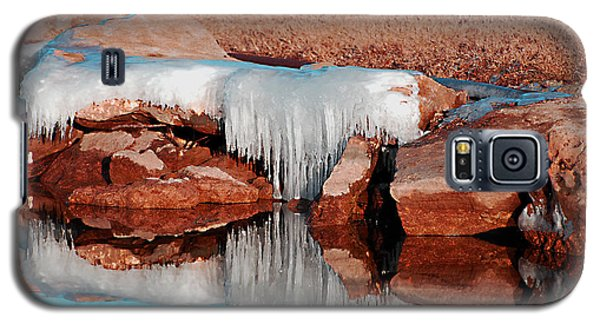 Galaxy S5 Case featuring the photograph Ice On Ice by Linda Cox