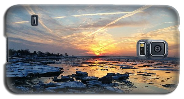 Ice On The Delaware River Galaxy S5 Case by Ed Sweeney