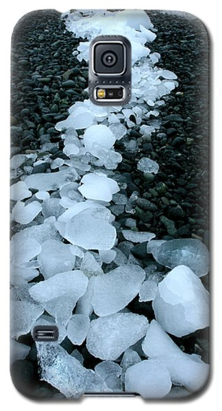 Galaxy S5 Case featuring the photograph Ice Pebbles by Amanda Stadther