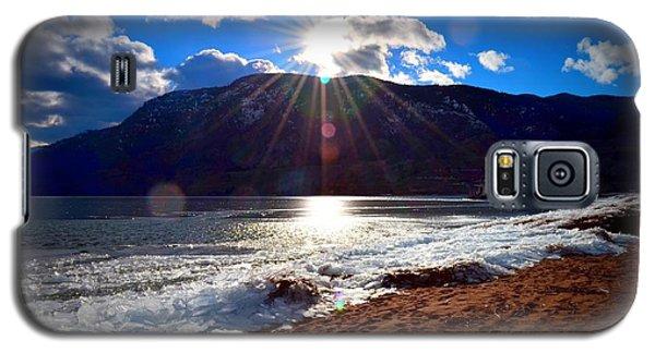 Ice Piles On Skaha Lake Penticton 02-19-2014 Galaxy S5 Case