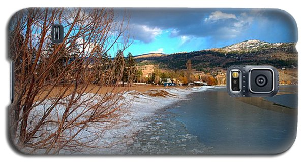 Ice Piles2 On Skaha Lake Penticton 02-19-2014 Galaxy S5 Case