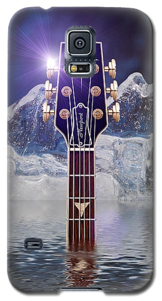 Galaxy S5 Case featuring the digital art Iceberg Blues by WB Johnston