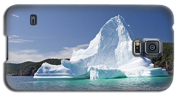 Galaxy S5 Case featuring the photograph Iceberg Newfoundland Canada by Liz Leyden