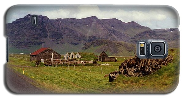 Galaxy S5 Case featuring the photograph Icelandic  Cottage by Debra Kaye McKrill