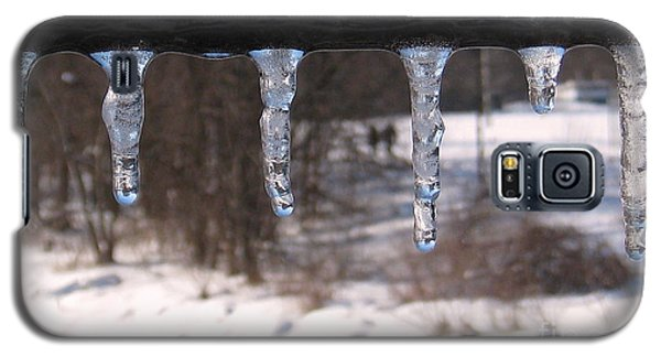 Galaxy S5 Case featuring the photograph Icicles On The Bridge by Nina Silver