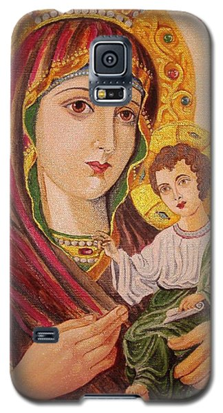 Galaxy S5 Case featuring the painting Icon by Nina Mitkova