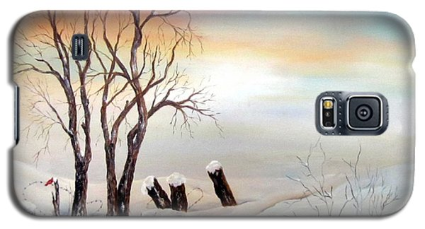 Galaxy S5 Case featuring the painting Icy Dawn by Anna-maria Dickinson