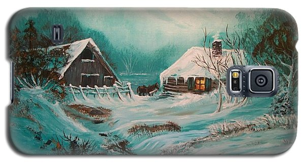 Galaxy S5 Case featuring the painting Icy Twilight by Sharon Duguay