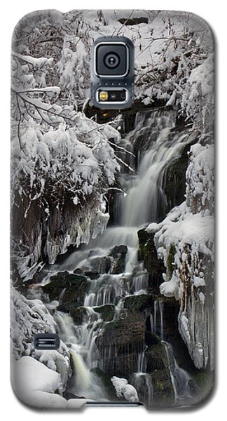 Galaxy S5 Case featuring the photograph Icy Waterfalls by Timothy McIntyre