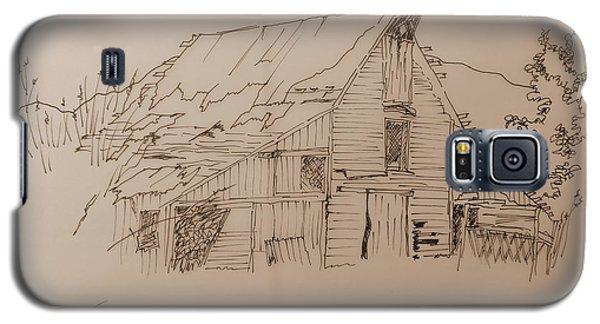 Galaxy S5 Case featuring the drawing Idaho Barn by Joel Deutsch