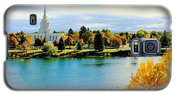 Galaxy S5 Case featuring the photograph Idaho Falls Temple by Benjamin Yeager