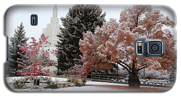 Idaho Falls Temple Winter Galaxy S5 Case by David Andersen