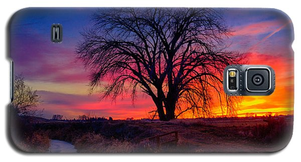 Galaxy S5 Case featuring the photograph Idaho Winter Sunset by Greg Norrell