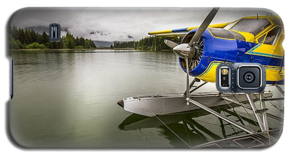 Idle Float Plane At Juneau Airport Galaxy S5 Case by Darcy Michaelchuk