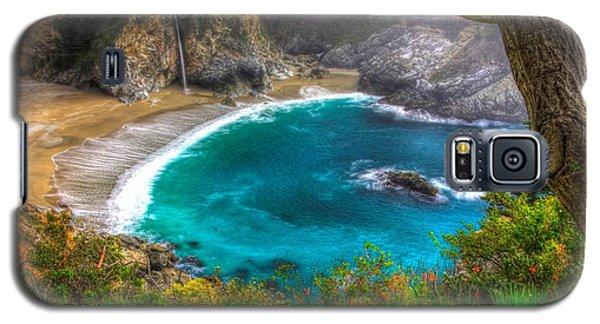 Idyllic Cove-1a. Mc Way Falls Julia Pfeiffer State Park - Big Sur Central California Coast Spring Galaxy S5 Case