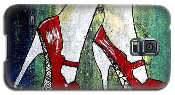 Galaxy S5 Case featuring the painting If You Walked In My Shoes by Julie  Hoyle