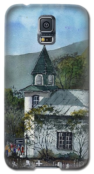 Galaxy S5 Case featuring the painting Iglesia San Patricio by Tim Oliver