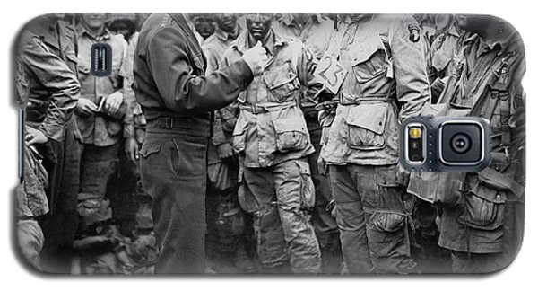 Ike With D-day Paratroopers Galaxy S5 Case
