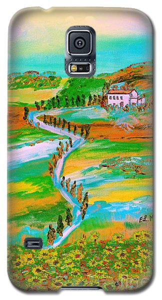 Galaxy S5 Case featuring the painting  Tuscan Countryside by Loredana Messina