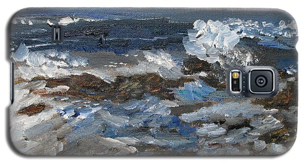 Galaxy S5 Case featuring the painting I'll Have A Water On The Rocks Please by Michael Helfen