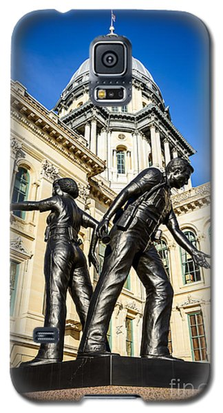 Illinois Police Officers Memorial In Springfield Galaxy S5 Case by Paul Velgos