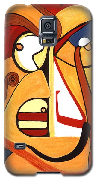 Galaxy S5 Case featuring the painting Illuminatus 2 by Stephen Lucas