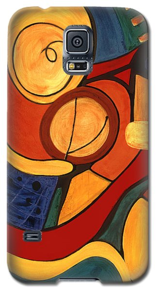 Galaxy S5 Case featuring the painting Illuminatus 3 by Stephen Lucas