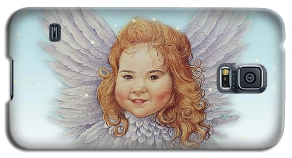 Galaxy S5 Case featuring the painting Illustrated Twinkling Angel by Judith Cheng