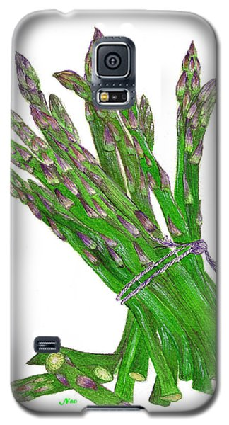 Galaxy S5 Case featuring the painting Illustration Of Asparagus by Nan Wright