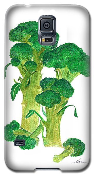 Illustration Of Broccoli Galaxy S5 Case by Nan Wright