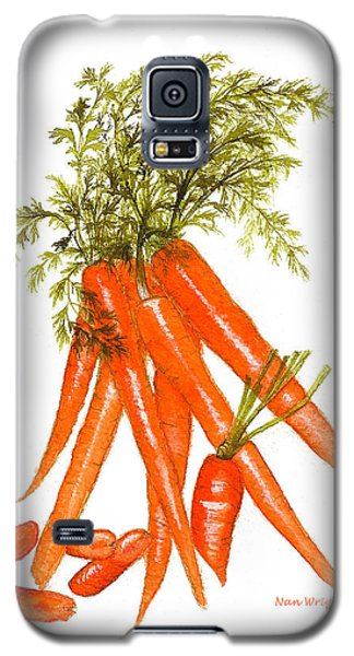 Galaxy S5 Case featuring the painting Illustration Of Carrots by Nan Wright