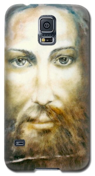 Galaxy S5 Case featuring the painting Image Of Christ by Henryk Gorecki