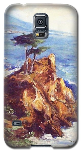 Galaxy S5 Case featuring the painting Imaginary Cypress by Eric  Schiabor