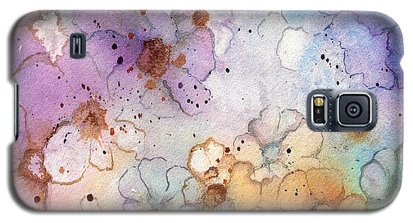 Galaxy S5 Case featuring the painting Imaginary Figments Abstract Flowers by Nan Wright