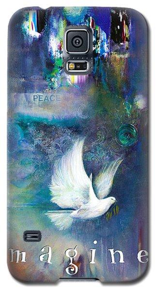 Galaxy S5 Case featuring the painting Imagine 4 Kids by Brooks Garten Hauschild