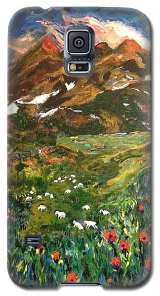 Galaxy S5 Case featuring the painting Imagine by Belinda Low