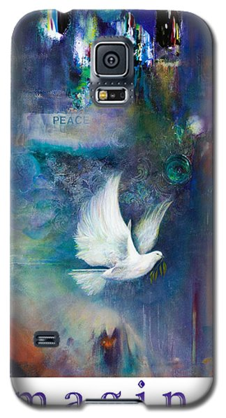 Galaxy S5 Case featuring the painting Imagine - With White Border And Title by Brooks Garten Hauschild
