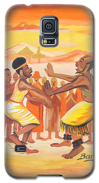 Galaxy S5 Case featuring the painting Imbiyino Dance From Rwanda by Emmanuel Baliyanga